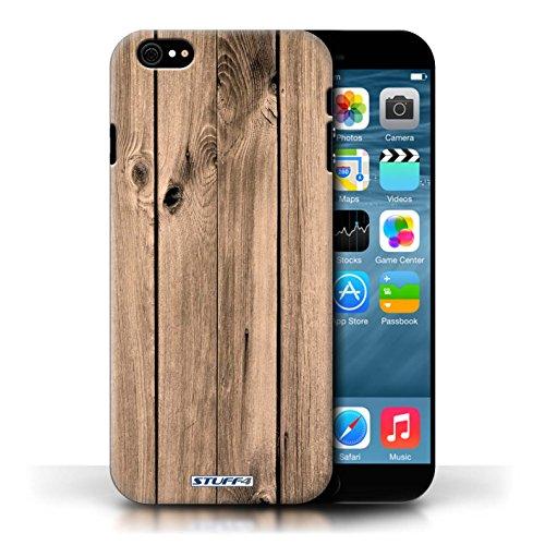 Hülle Case für Apple iPhone 6/6S / Brett Entwurf / Holz/Holzmaserung Muster Collection