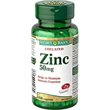 Nature's Bounty Chelated Zinc 50mg 100 count