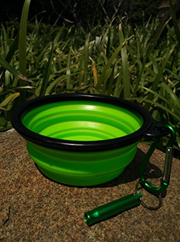 Cafford-Collapsible-Travel-Dog-Bowl-for-Food-Water-With-Clips-Whistles-3-PCS-Set