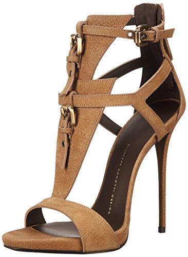 Giuseppe Zanotti Women's Dress Sandal, Sbuff Taupe, 9.5 M US