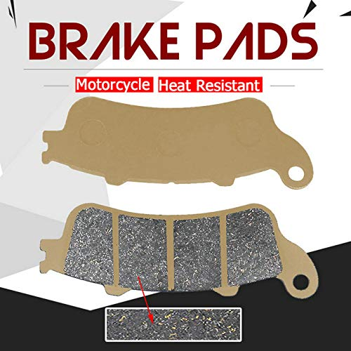 High Grade Motorcycle Front Brake Pads for HONDA FJS400 06-09 FJS600 FJS 600 Silver wing 2001-2009 GL 1800 GL1800 Goldwing 2001-2013 Ceramic Formula ()