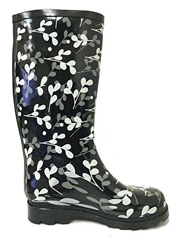 G4u Dames Regenlaarzen Meerdere Stijlen Kleur Middenkuit Wellies Gesp Mode Rubber Kniehoge Sneeuwschoenen Zwart / Blad