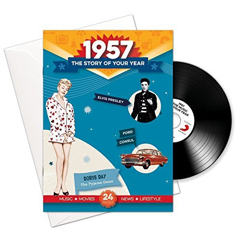 Price comparison product image 1957 Birthday or Anniversary Gifts - 1957 4-In-1 Card and Gift - Story of Your Year , CD , Music Download