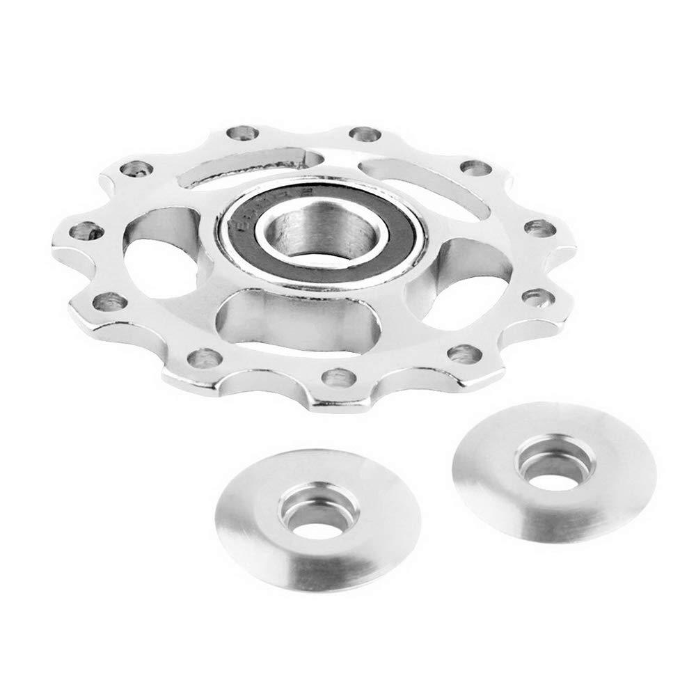 Potelin Bearing Pulley Bike 11 Tooth Aluminum Sealed Bearing Jockey Wheel Rear Derailleur Pulleys