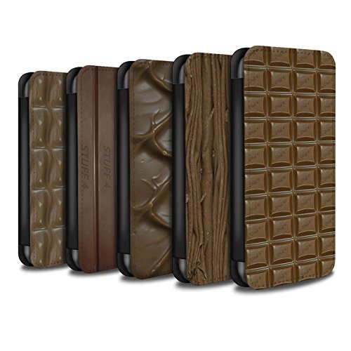 Stuff4 Coque/Etui/Housse Cuir PU Case/Cover pour Apple iPhone 8 Plus / Multipack (10 Designs) Design / Chocolat Collection