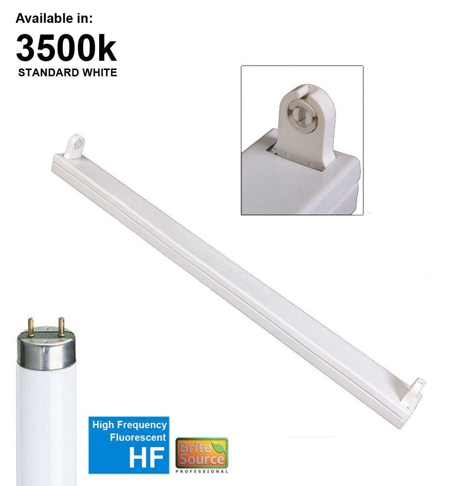Fluorescent batten strip light fitting with t8 tube single 4ft 2ft t8 fluorescent high frequency batten fitting single with tubes arubaitofo Choice Image