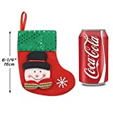 LimBridge 12pcs Mini Christmas Stockings Gift & Treat Bag, for Favors and Decorating
