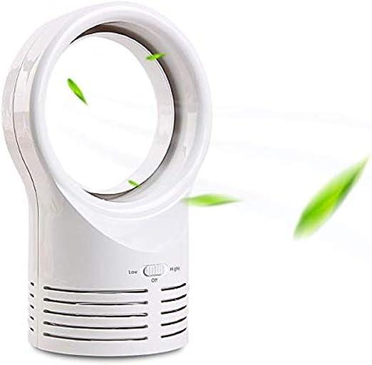 LUZHIWEI Ventilador sin aspas Portátil Personal Air Cooler Desktop Air Multiplier Table Cooling Fan Safe Quiet Table Fan Portable Durable Ligero@Blanco: Amazon.es: Hogar