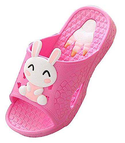 Blubi Toddler Little Kid Bunny Lightweight Shower and Poolside Sandal Beach Sandal (12.5 M, Rose) by Blubi