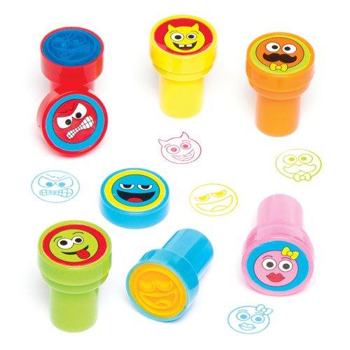 4 opinioni per Timbrini con inchiostro incorporato con faccine buffe per bambini, per decorare,