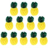 12 Pack Paper Pineapples Honeycombs Decoration Summer Tropical Hawaiian Theme Party Favours Beach Carnival Baby Shower Wedding Festival Home Decor - 20cm