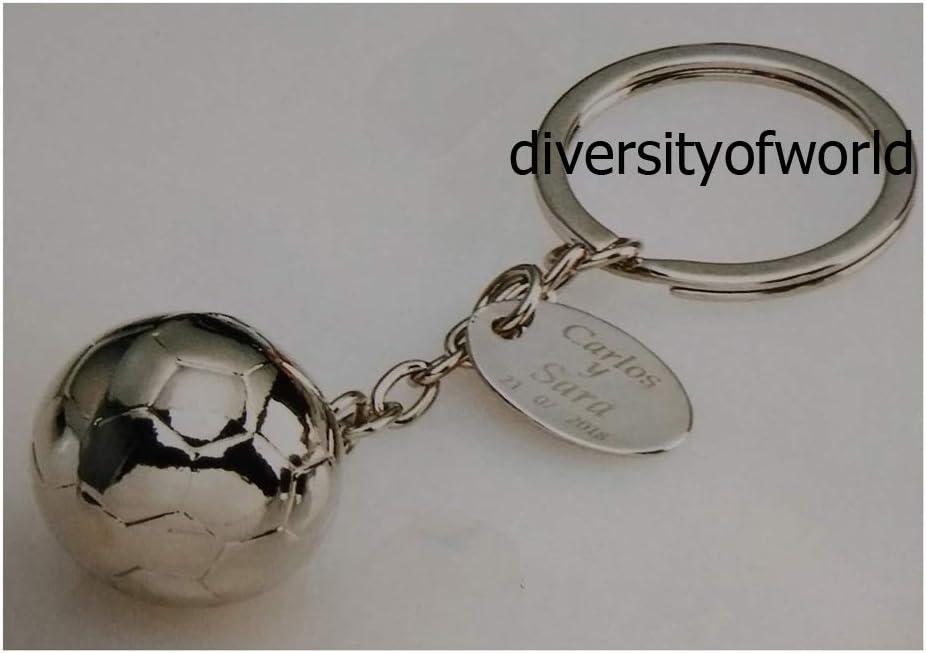 diversityofworld Llavero de Balón de Fútbol Personalizado con ...