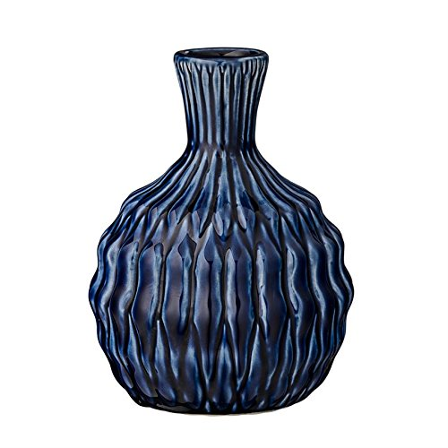 Bloomingville Tall Navy Ceramic Vase -