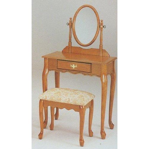 Oak Vanity Bench - 6