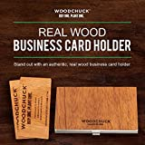 Woodchuck - Wood Business Card Holder - Dimensions