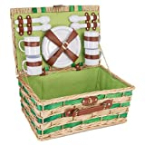 Willow Picnic Basket for Four