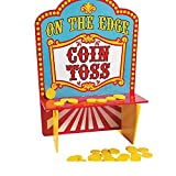 Fun Express Wooden On The Edge Carnival Coin Toss Game (With Sticky Notes)