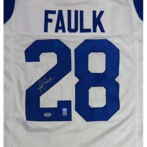 9ebde1c7f high-quality Marshall Faulk Autographed Jersey - White - PSA DNA Certified  - Autographed