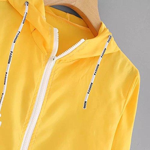 Yellow Patchwork Cardigan Long Women Oversize Windbreaker Jacket Sleeve Overcoat Hoodie Coat Corduroy XOWRTE Drawstring AYfOqA