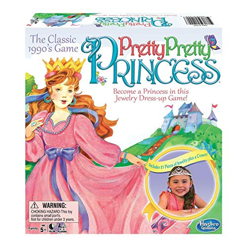 Big Game Toys~Pretty Pretty Princess Game Jewelry Dress Up Board Game 1990