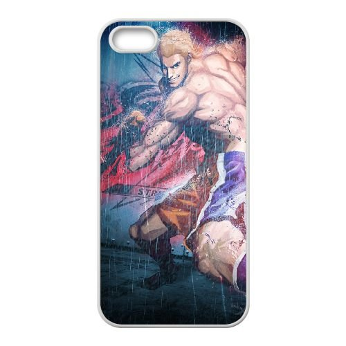 Street Fighter X Tekken Steve Fox Rain Smile coque iPhone 5 5s cellulaire cas coque de téléphone cas blanche couverture de téléphone portable EEECBCAAN04379
