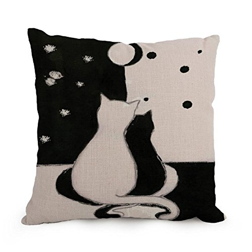 [Artistdecor Cat Throw Pillow Case ,best For Gf,bedding,bar,dining Room,bedroom,teens Girls 18 X 18 Inches / 45 By 45 Cm(each] (Project M 35 New Costumes)