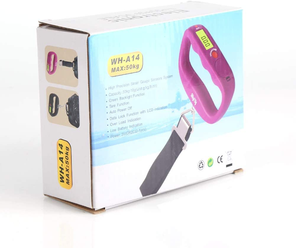 para Pesca Fdit B/áscula port/átil para Colgar con Pantalla LCD Cocina b/áscula de Mano para Equipaje etc. Postal