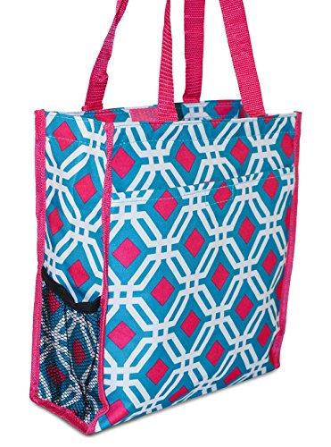 Private Label , Tote da viaggio  Ragazza Donna Quatrefoil - Blue Pink