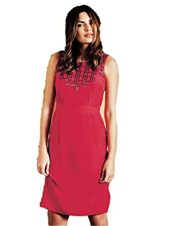 153e7d3c25 Image Unavailable. Image not available for. Color  Boden Red Cerise  Sequined Belgravia Dress Size US 10