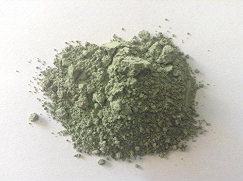 Pure green earth pigment,genuine terre verte bluish(50 ()