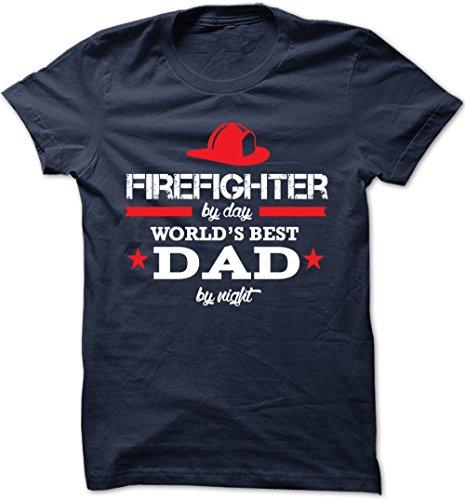 (Bad Bananas World's Best Dad - Firefighter - Unisex Crew Neck T Shirt)