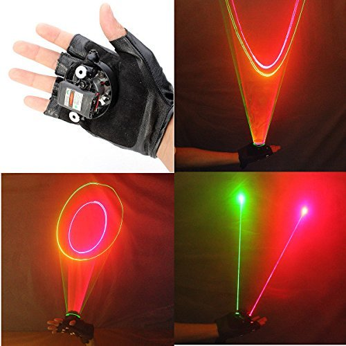 200 Mw Green Laser (Glove Green and Red Swirl Gloves 523nm 650nm 1 mw)