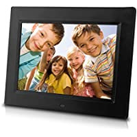 Sungale CD802 8-Inch Digital Photo Frame, multimedia player, 5 star product (Black)