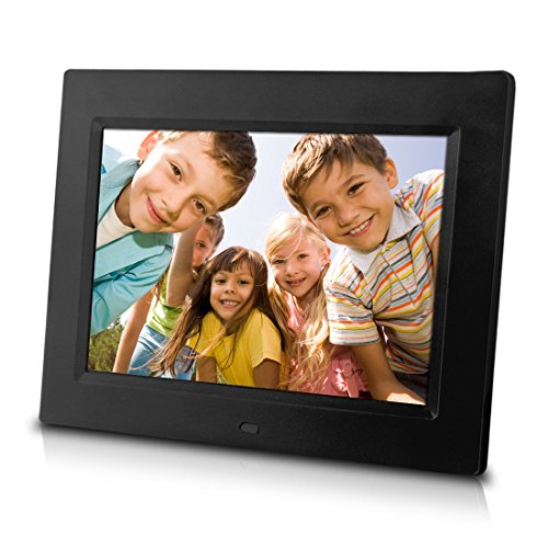 Sungale CD802 8-Inch Digital Photo Frame, multimedia player, 5 star product (Black) -