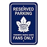 "NHL Toronto Maple Leafs Reserved Parking Sign, 12"" x 18"""