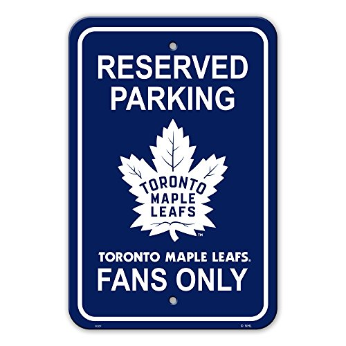 Fremont Die NHL Toronto Maple Leafs Reserved Parking Sign, 12