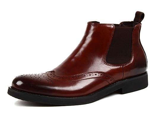 310b4f377e44 Herren Lederschuhe Herren Stiefel Herren Lederschuhe Hohe Schuhe Kurze  Stiefel Britischen Stil Martin Stiefel Herrenschuhe (