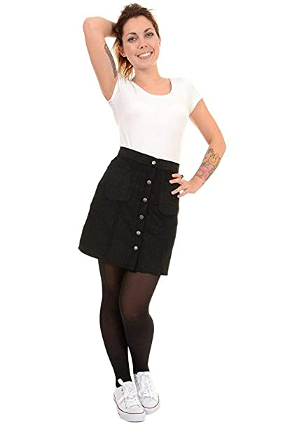 discount up to 60% bright in luster available Ladies Run & Fly A Line Retro Black Button Front Corduroy ...