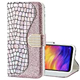 EnjoyCase Bling Case for Galaxy S8,Shiny Glitter Laser Pu Leather Diamond Magnetic Clasp Bookstyle Soft Tpu Inner Flip Wallet Case Cover for Samsung Galaxy S8