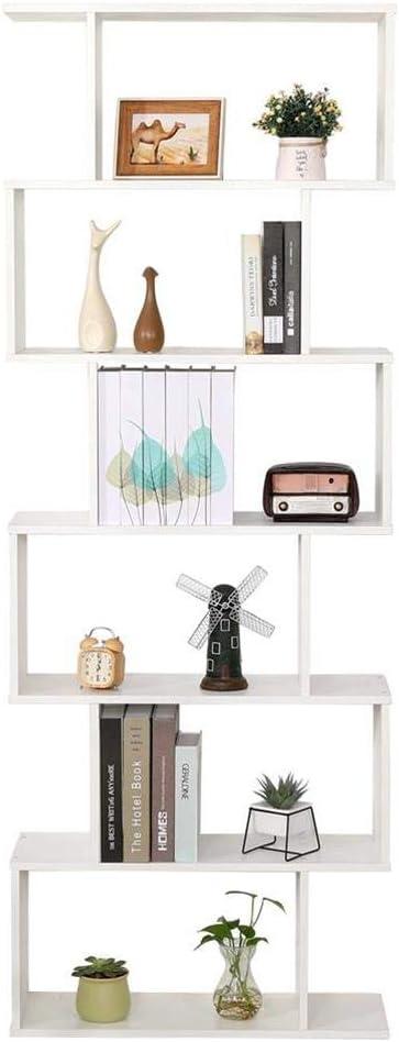 Estantería blanca para oficina moderna contemporánea de dos caras divisoras de madera para casa, día 70 x 23,5 x 190 cm, independiente, estantes de ...