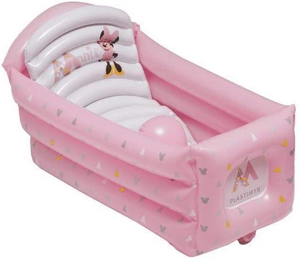 Bañera Hinchable Minnie- Plastimyr + Regalo De Un Babero (rosa ...