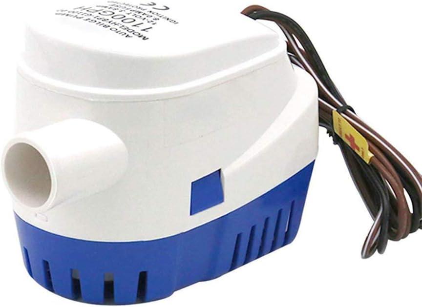 Classicoco ClassicocoAutomatic 12V 1100GBH Pompe /à Eau de cale Pompe /à Eau Pompes Submersibles avec Interrupteur /à Flotteur