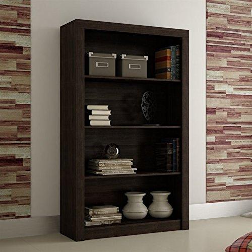 Series 4 Shelf Bookcase (Manhattan Comfort Olinda 2.0 Series 4 Shelf Bookcase in Tobacco)