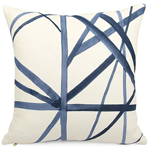 Chloe & Olive Contemporary Striped Throw Toss Pillow - 18