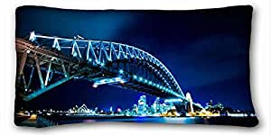 Custom City Custom Cotton & Polyester Soft Rectangle Pillow Case Cover 20x36 inches (One Side) suitable for Twin-bed