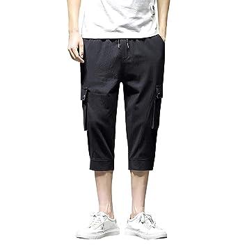 Amazon.com: YKARITIANNA - Pantalones de verano para hombre ...