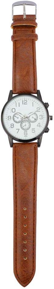 Liandd Orologio da Uomo Fashion Business Mens Watch Orologio al Quarzo in Pelle con Cinturino in Pelle di Alta qualità D