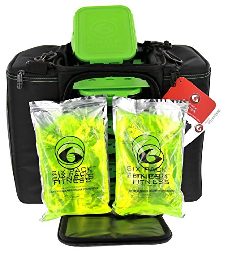 6 Pack Fitness Bag Innovator 500 Black/Neon Green (5 Meal) by 6 Pack Fitness (Image #3)