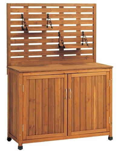 天然木製 バックパネル付き収納庫(吊棚付) Lタイプ 幅101cm×高さ141cm ブラウン YB-202NW100 B007ZLMJ5G 26900   Lタイプ