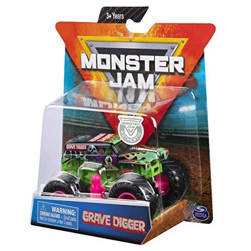 Monster Jams, Official Grave Digger Monster Truck, Die-Cast Vehicle, Danger Divas Series, 1:64 Scale